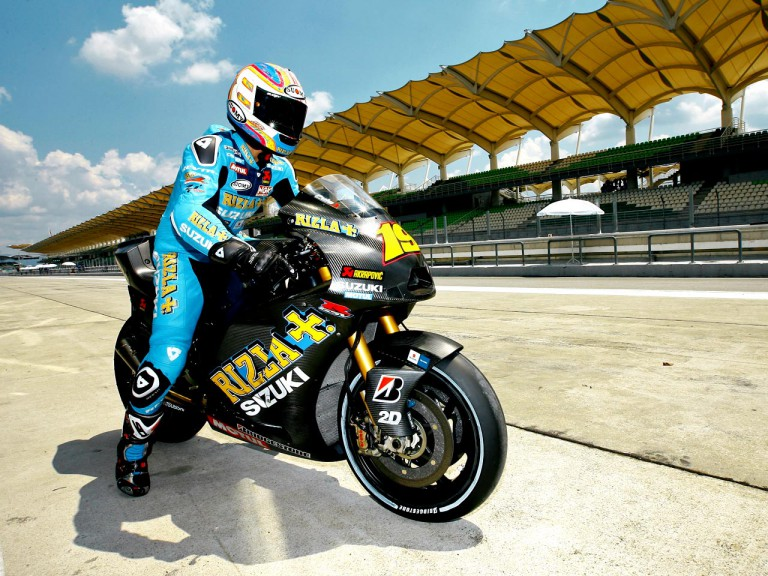 Alvaro Bautista at the Sepang test