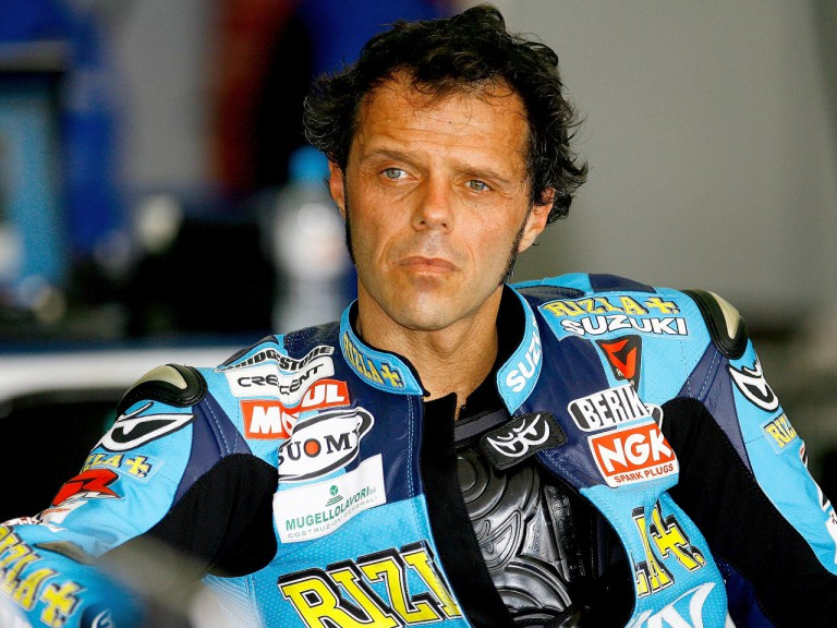 Loris Capirossi at the Speang test