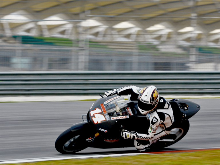 Randy de Puniet in action at the Sepang test