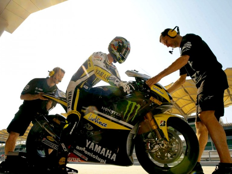 Colin Edwards at the Sepang test