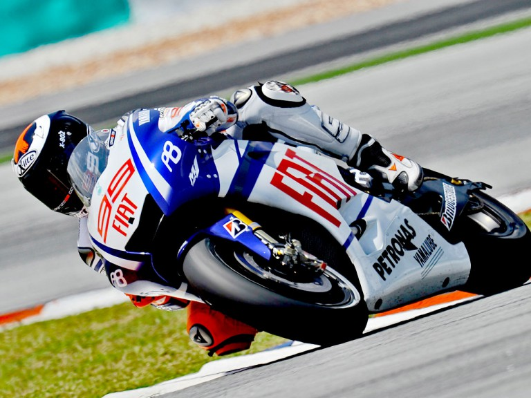 Jorge Lorenzo at the Sepang test