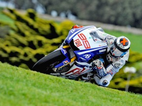 Jorge Lorenzo in action at Phillip Island