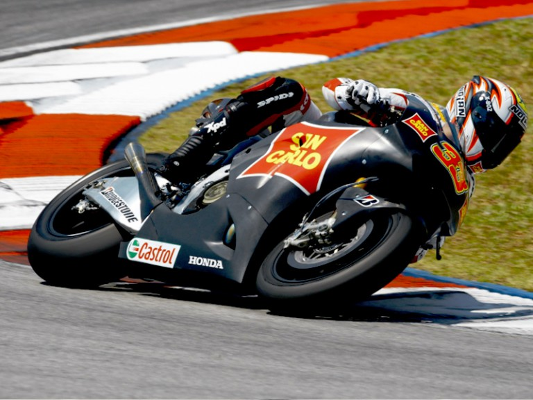 Marco Melandri at the Sepang test