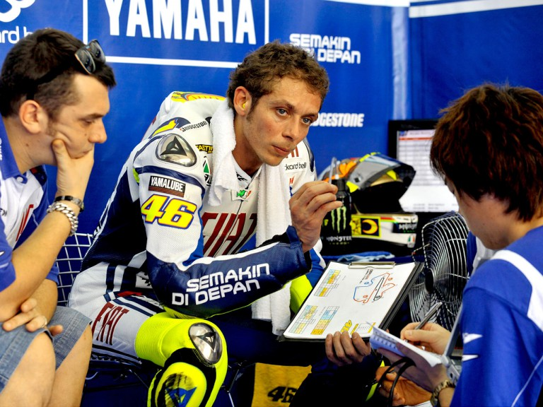 Valentino Rossi at the Sepang test