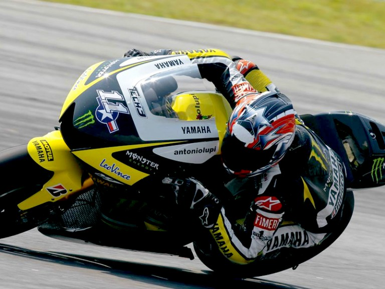 Ben Spies at the Sepang test
