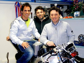 Toni Elias at San Carlo Honda Gresini headquarter