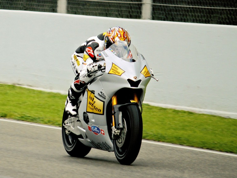 Thomas Luthi in action at the Catalunya test