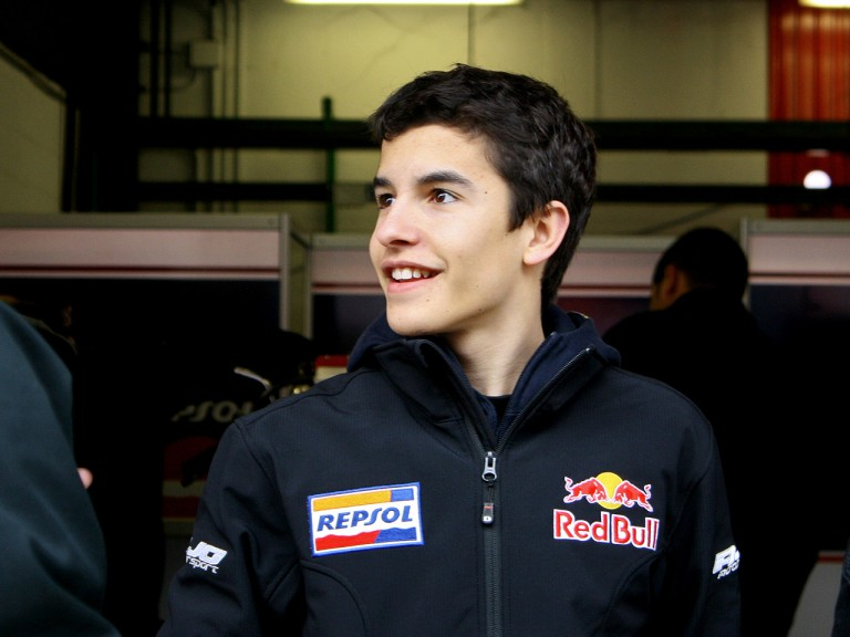 Marc Marquez at the Catalunya test