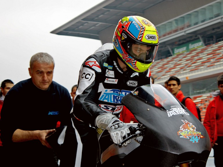 Roberto Rolfo at the Moto2 test in Catalunya