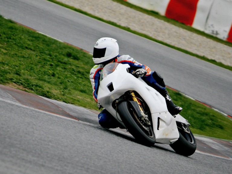 Alex Baldolini at the Catalunya test