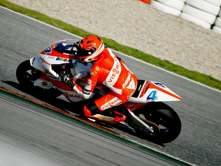 Stefan Bradl in action at the Catalunya test