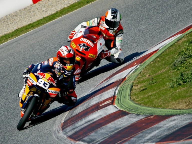 Marc Marquez and Pol Espargaró at the Catalunya test