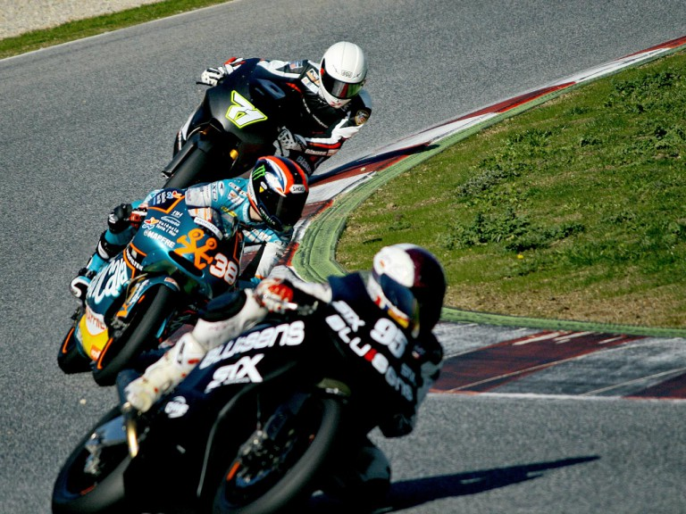 Al Naimi, Smith and Corti in action at the Catalunya test