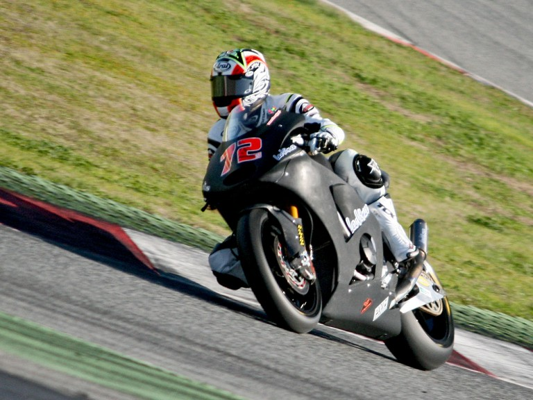 Yuki Takahashi in action at the Catalunya test