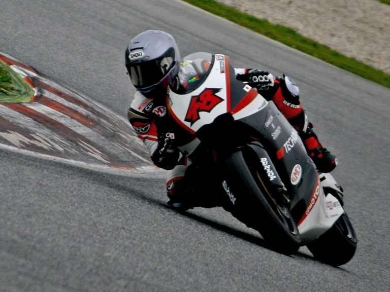 Shoya Tomizawa at the Catalunya test