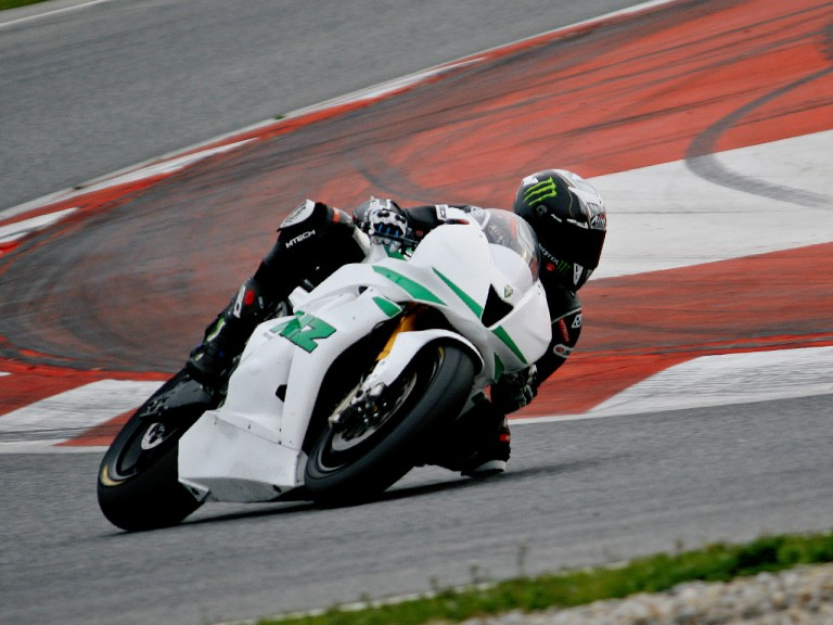 Anthony West in action at the Catalunya test