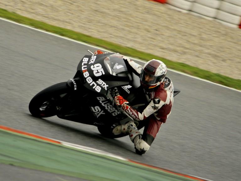 Mashel Al Naimi in action at the Catalunya test