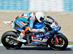 Mashel Al Naimi in action at the Jerez test