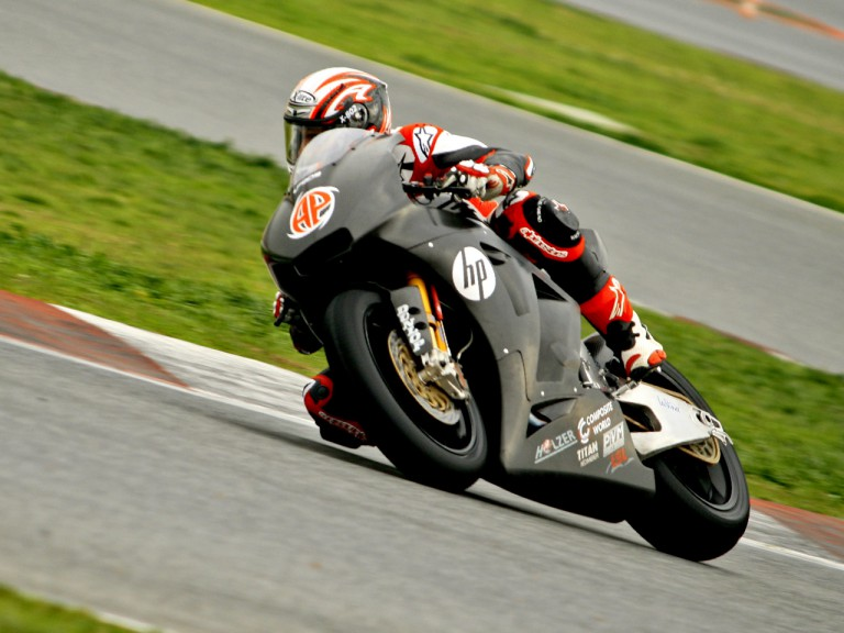 Axel Pons in action at the Catalunya test