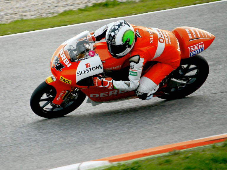 Pol Espargaró on track at the Catalunya test