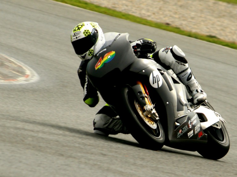 Sergio Gadea in action at the Catalunya test