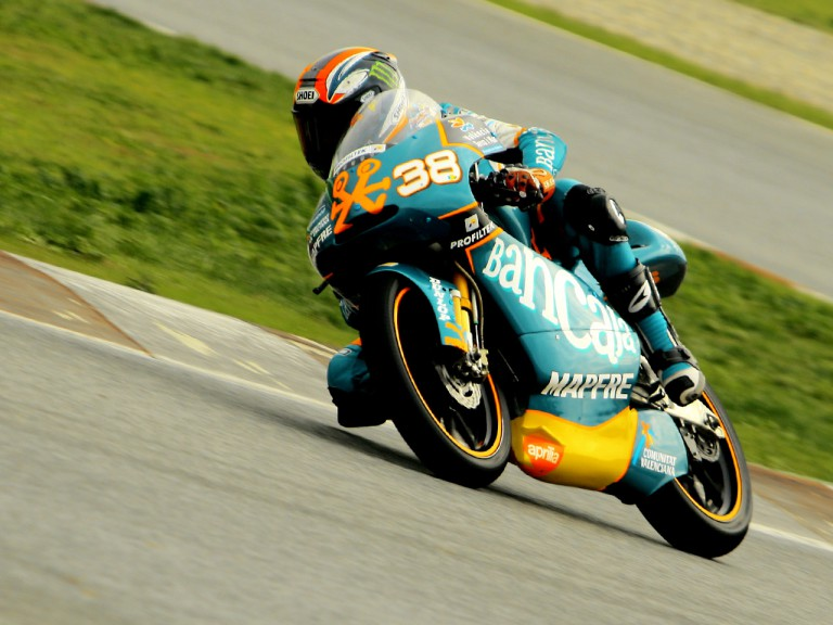 Bradley Smith in action at the catalunya test