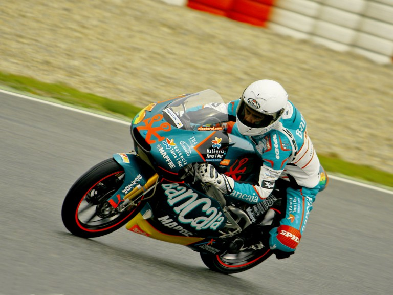 Nico Terol in action at the Catalunya test