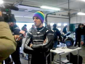 Alex de Angelis at Moto2 test in Misano