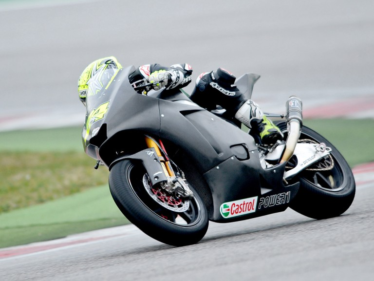 Toni Elias at the Moto2 test in Misano