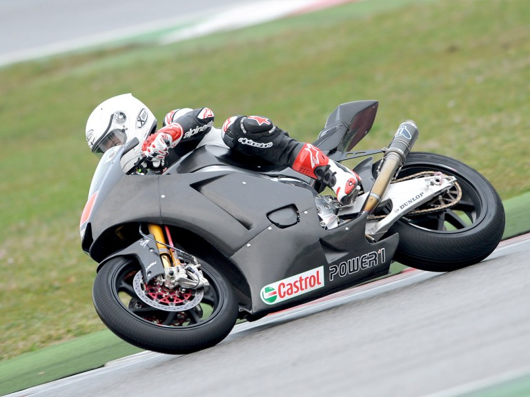 Vladimir Ivanov at the Moto2 test in Misano