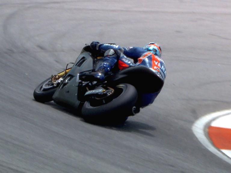 Yamaha test rider at the Sepang test