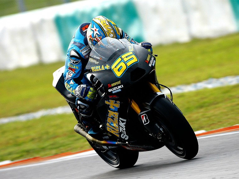 Loris Capirossi in action at the Sepang test