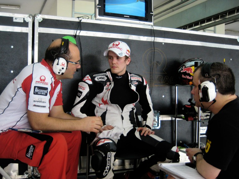 Mika Kallio in the Pramac garage at the Sepang test