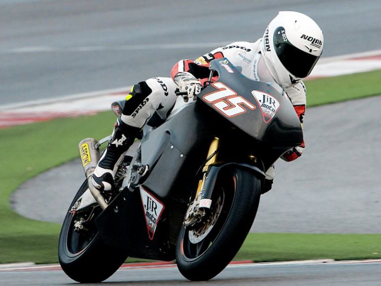 Mattia Pasini at the Moto2 test in Misano