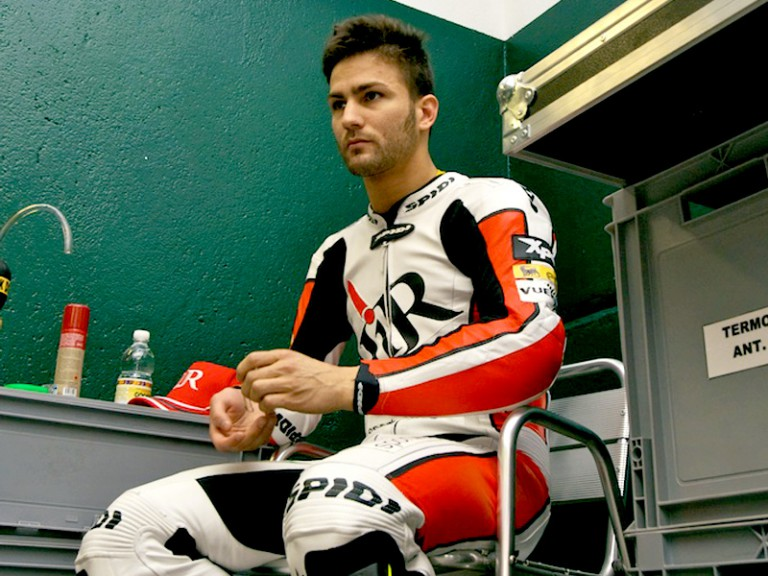 Mattia Pasini at the Moto2 test in Misano
