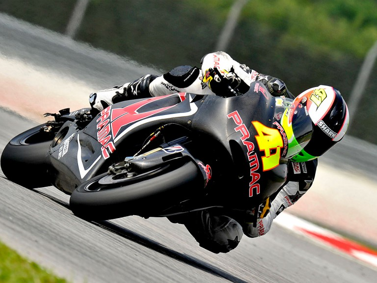 Aleix Espargaró in action at the Sepang test