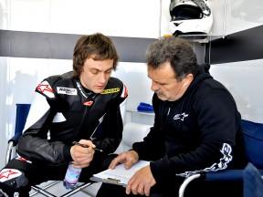Vladimir Ivanov in the garage at the Valencia test