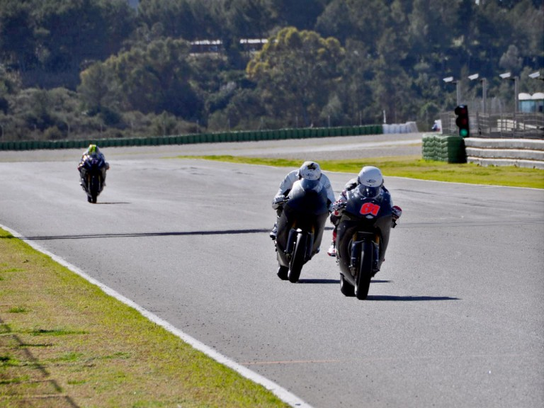 Moto2 action at the Valencia test