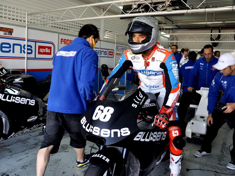 Yonny Hernández set to leave the garage at the Valencia test