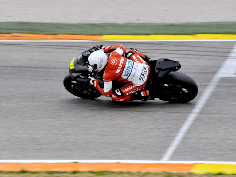 Julián Simón in action at the Valencia test
