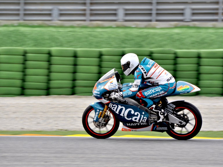 Nico Terol in action at the Valencia test