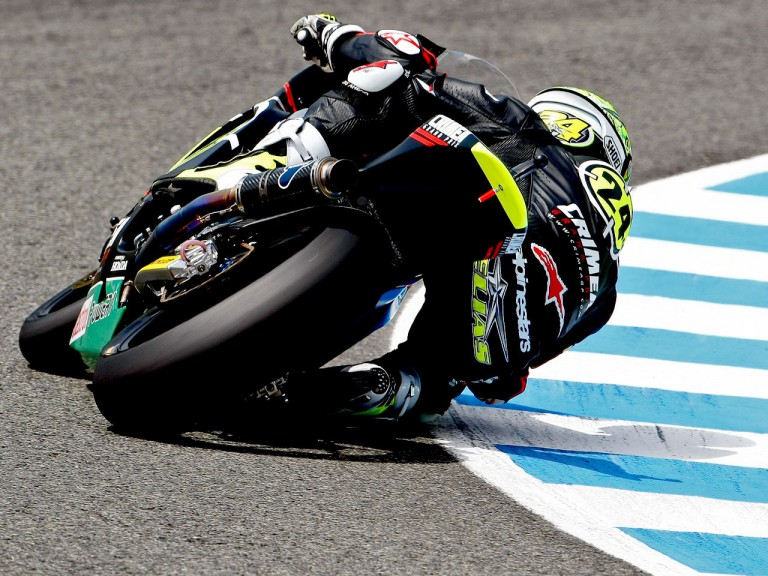 Toni Elias in action in Jerez