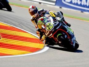 Toni Elías in action at Motorland Aragón