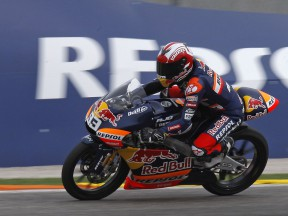 Marc Marquez in action at the Ricardo Tormo Circuit
