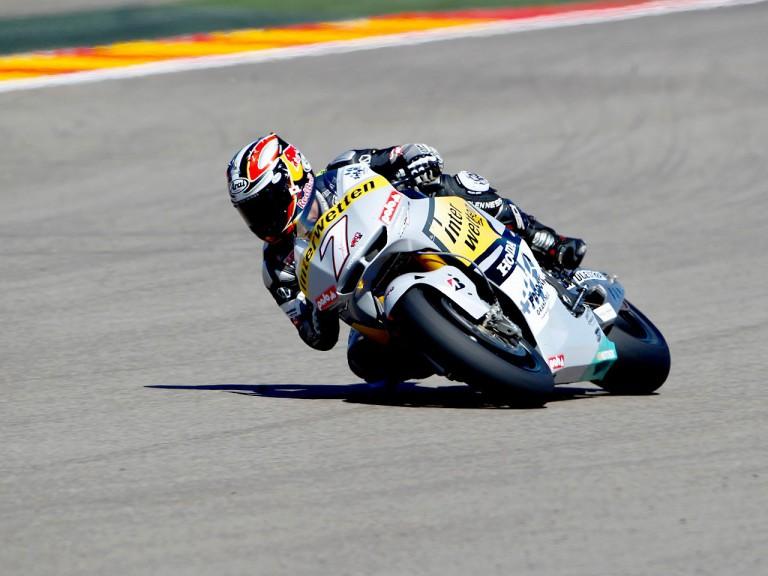 Hiroshi Aoyama in action at Motorland Aragón