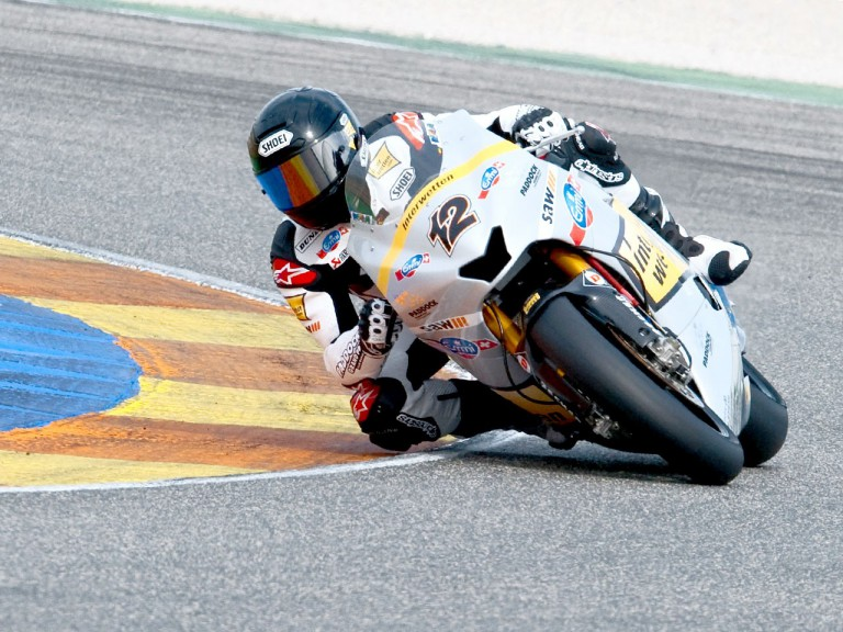 Thomas Luthi in action at the Valencia test