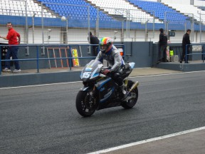 De Angelis in action at Jerez Circuit