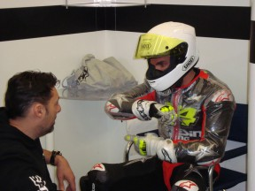 Toni Elias at Jerez Test