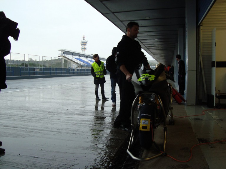 Rainy test in Jerez