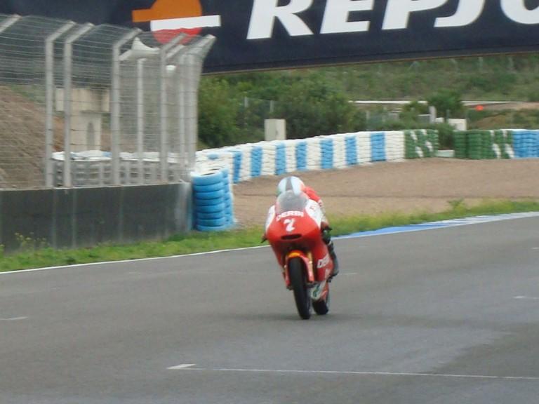 vázquez at Jerez track